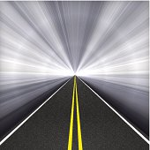 Tunnel Highway with textured asphalt.