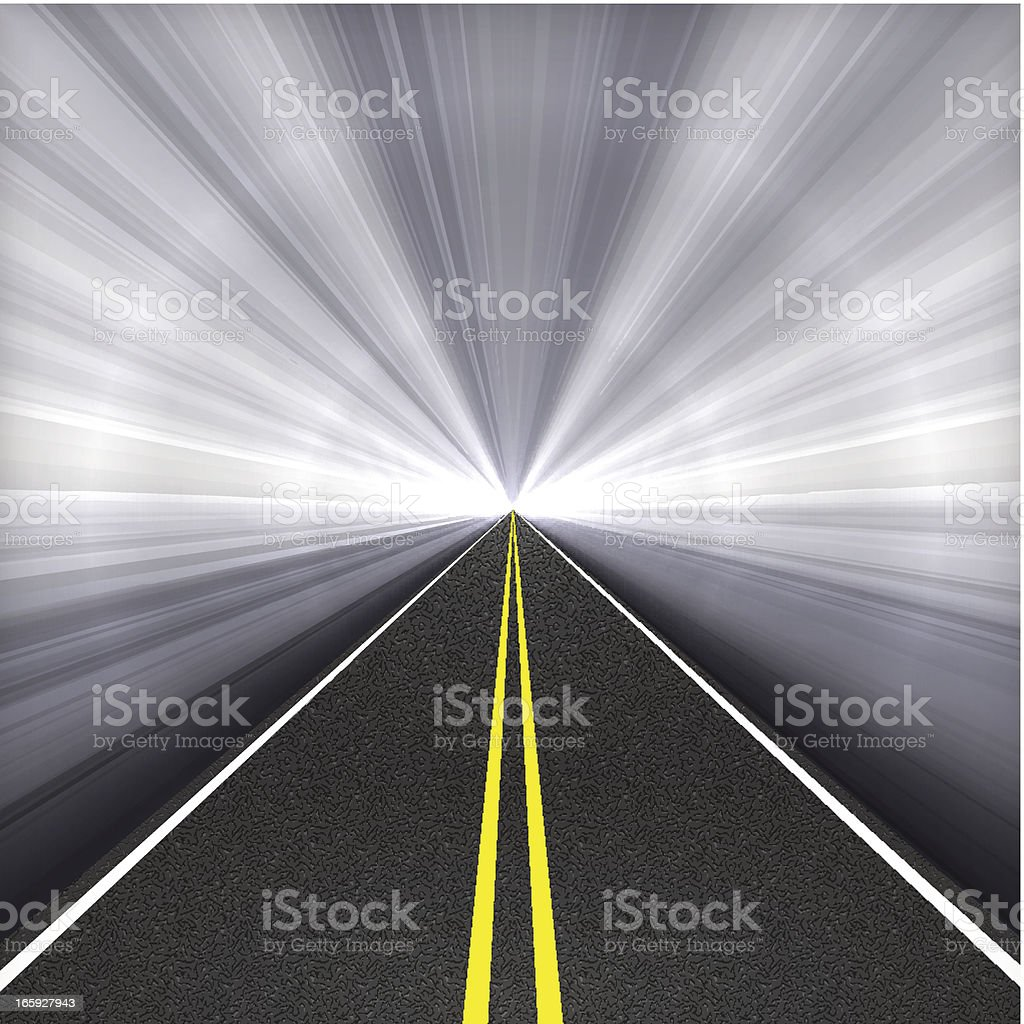 Tunnel Highway vector art illustration