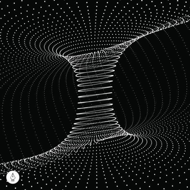 Tunnel. Technology Style. Perspective Grid Background Texture. Vector Illustration. vector art illustration
