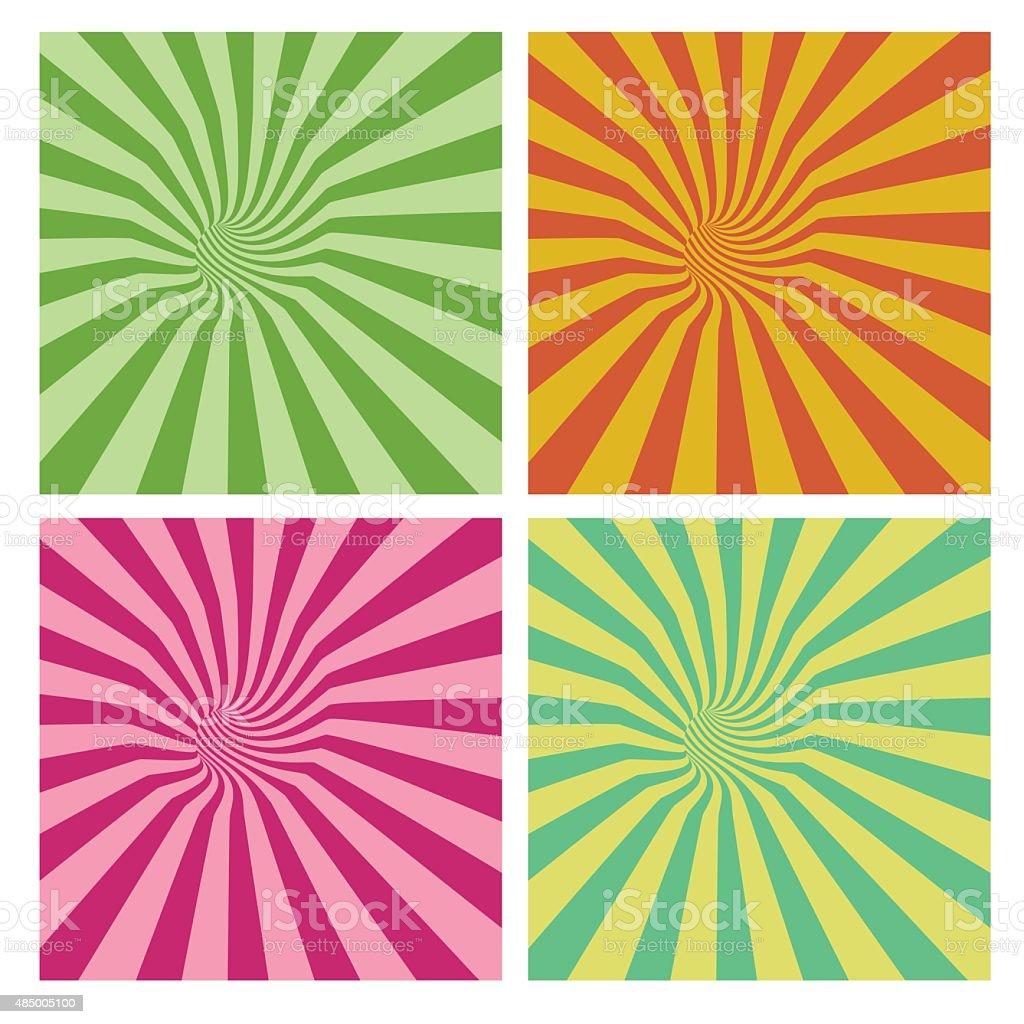 tunnel vortex in multiple color stripe pattern vector art illustration