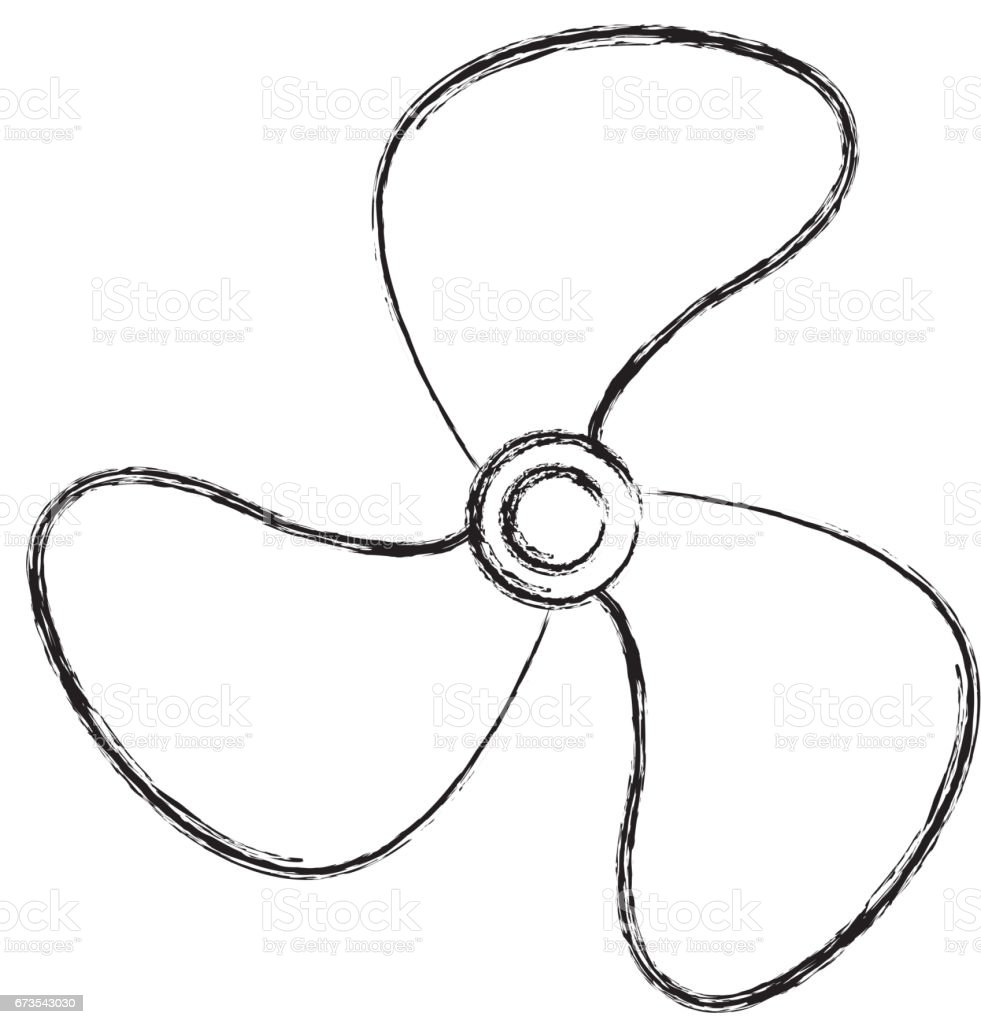 Fan Blade Drawing : Turbine fan isolated icon stock vector art more images