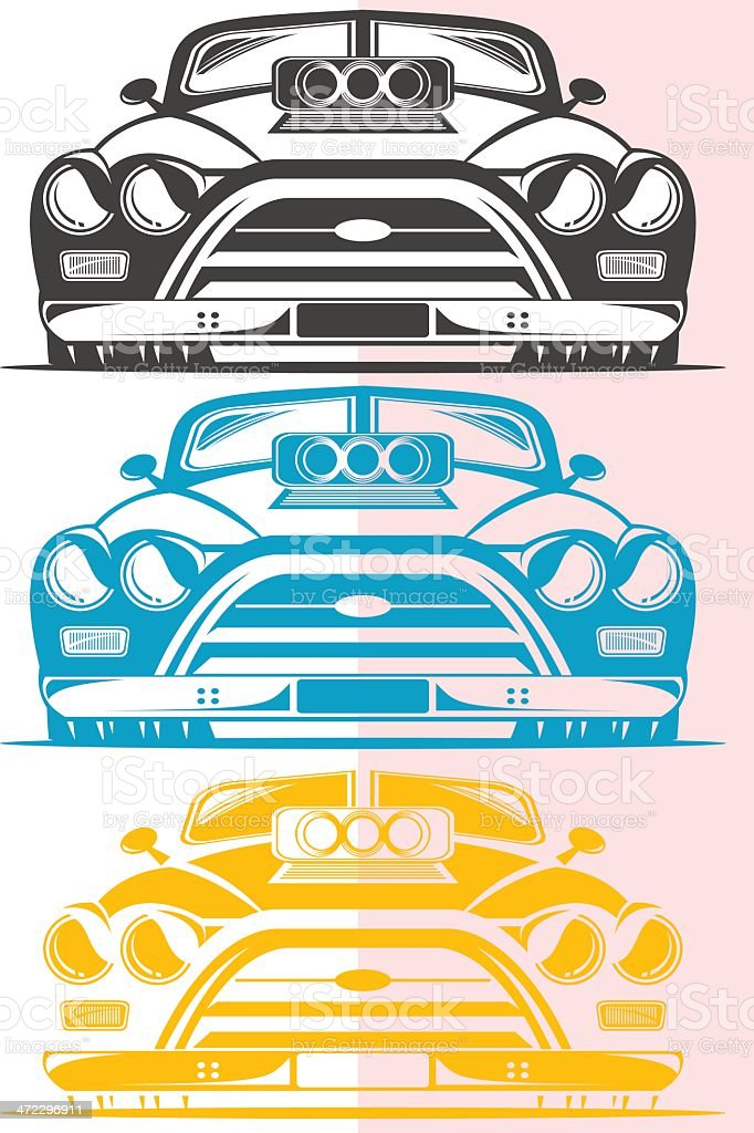 Turbo charger car royalty-free stock vector art