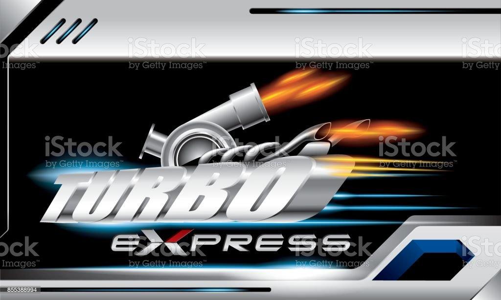 Turbo Express Vektor Konzept für Gestaltung – Vektorgrafik