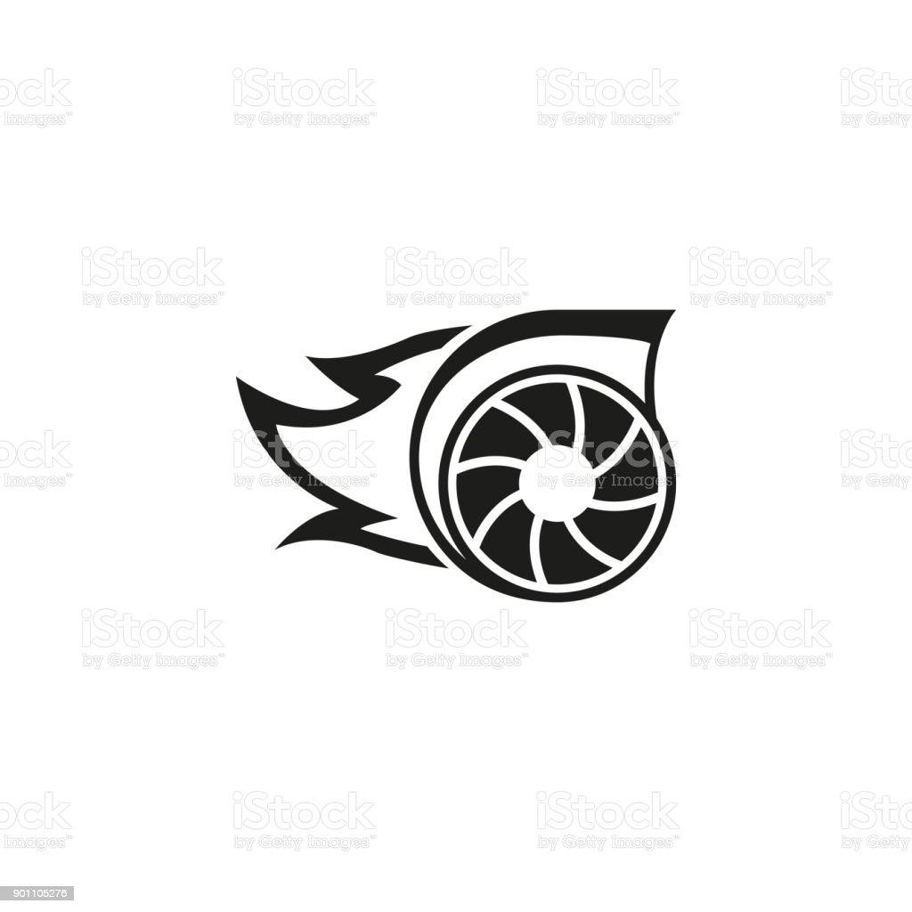Turbo-Symbol – Vektorgrafik