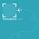 Airplane entering the turbulence zone