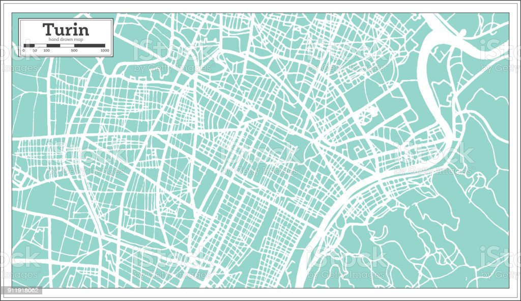 Map Of Germany And Italy With Cities.Turin Italy City Map In Retro Style Outline Map Stock Vector Art