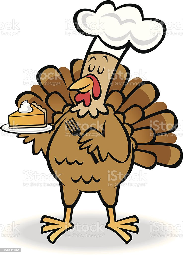 Turkey and Pie royalty-free stock vector art