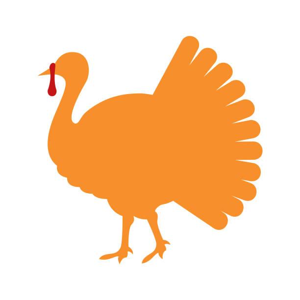 Turkey bird silhouette isolated on white background - Vector Turkey  silhouette isolated on white background turkey stock illustrations