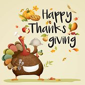 turkey chef - happy thanksgiving