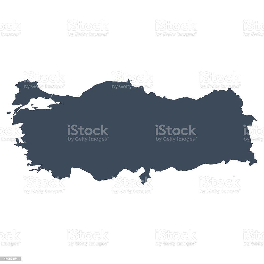 Turkey country map vector art illustration