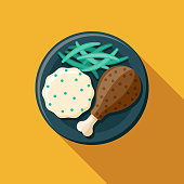 istock Turkey Dinner Food Icon 1277668670