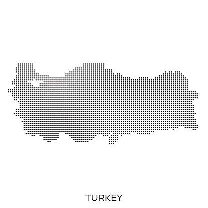 Turkey dot halftone pattern map