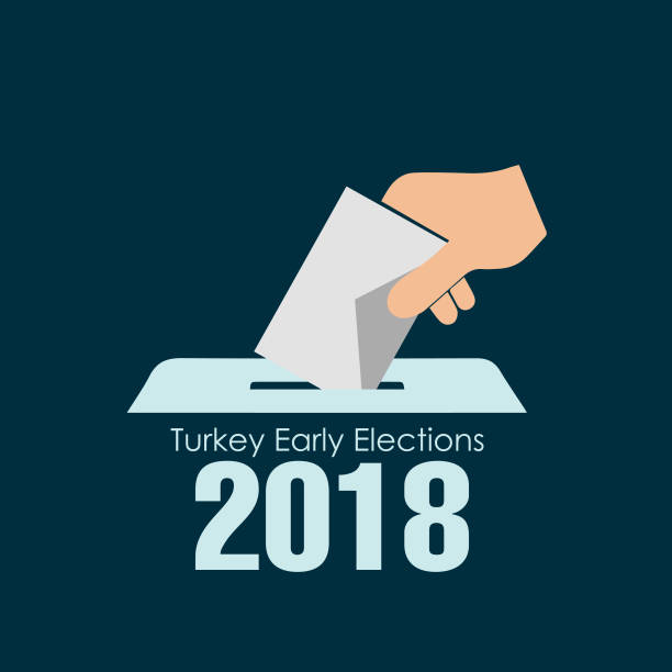 stockillustraties, clipart, cartoons en iconen met turkije vervroegde verkiezingen, vector werk - vote