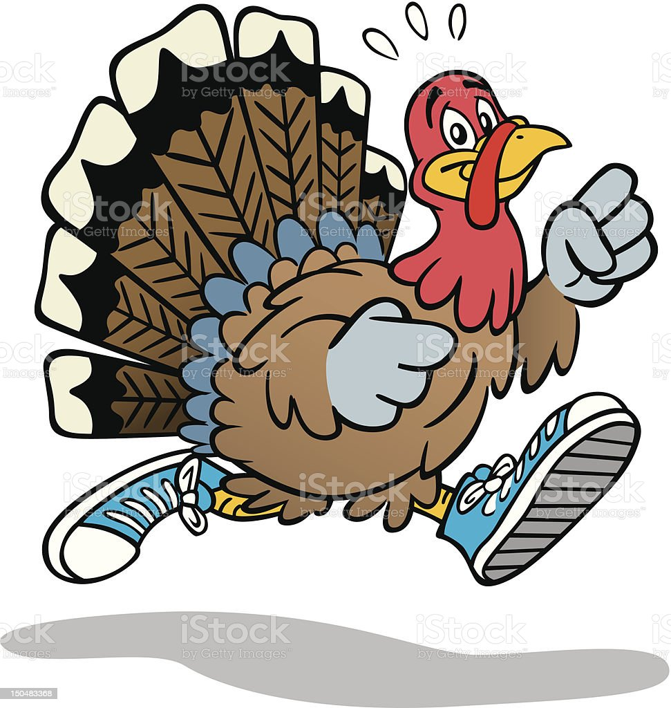 Turkey Exercise vector art illustration