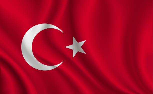 stockillustraties, clipart, cartoons en iconen met turkije vlag achtergrond - turkse cultuur