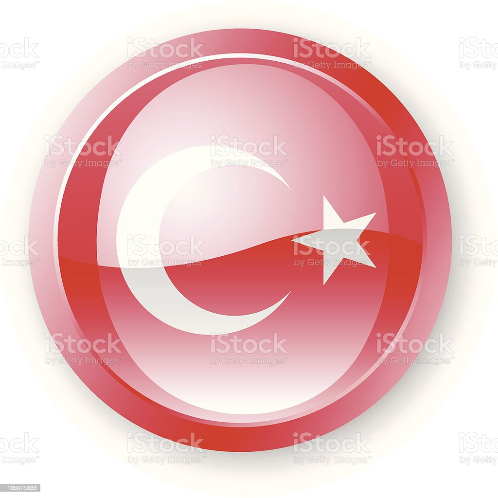 Turkey Flag Icon royalty-free turkey flag icon stock vector art & more images of circle