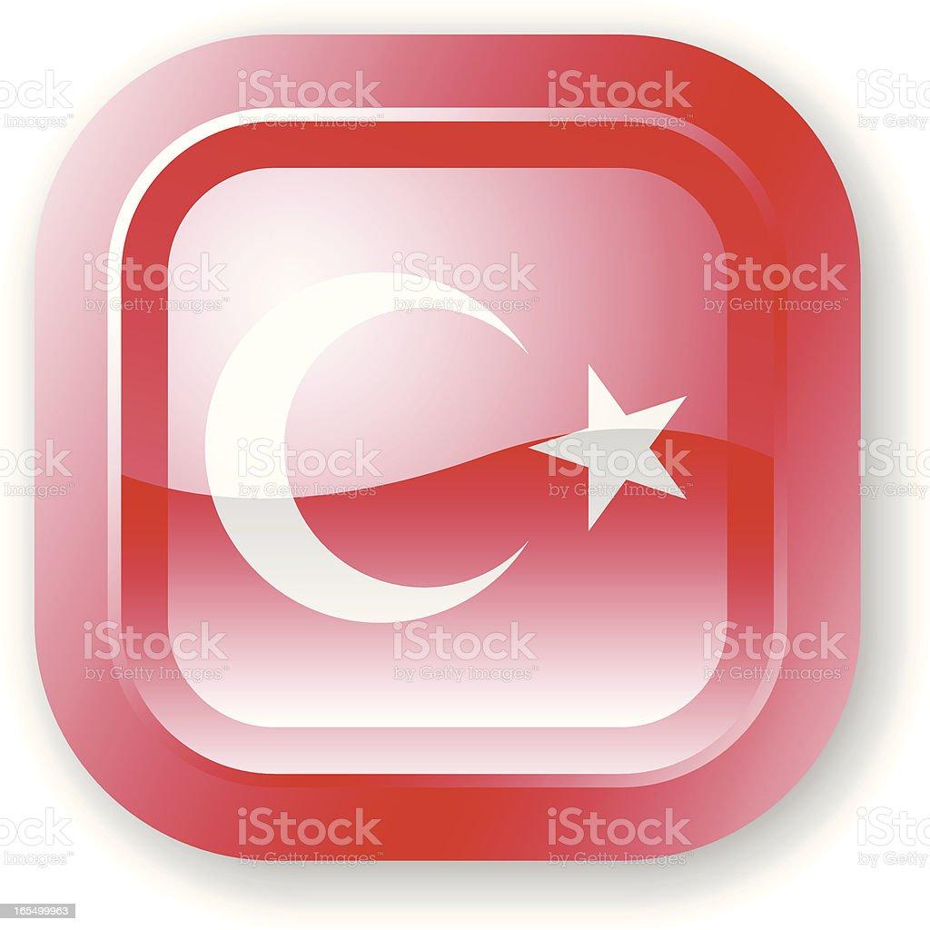 Turkey Flag Icon royalty-free stock vector art