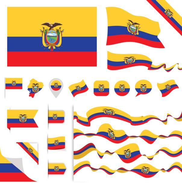 ilustraciones, imágenes clip art, dibujos animados e iconos de stock de n0605 - turquía - establecido - bandera de ecuador