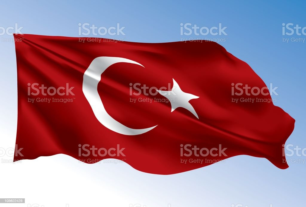Turkey flag royalty-free stock vector art
