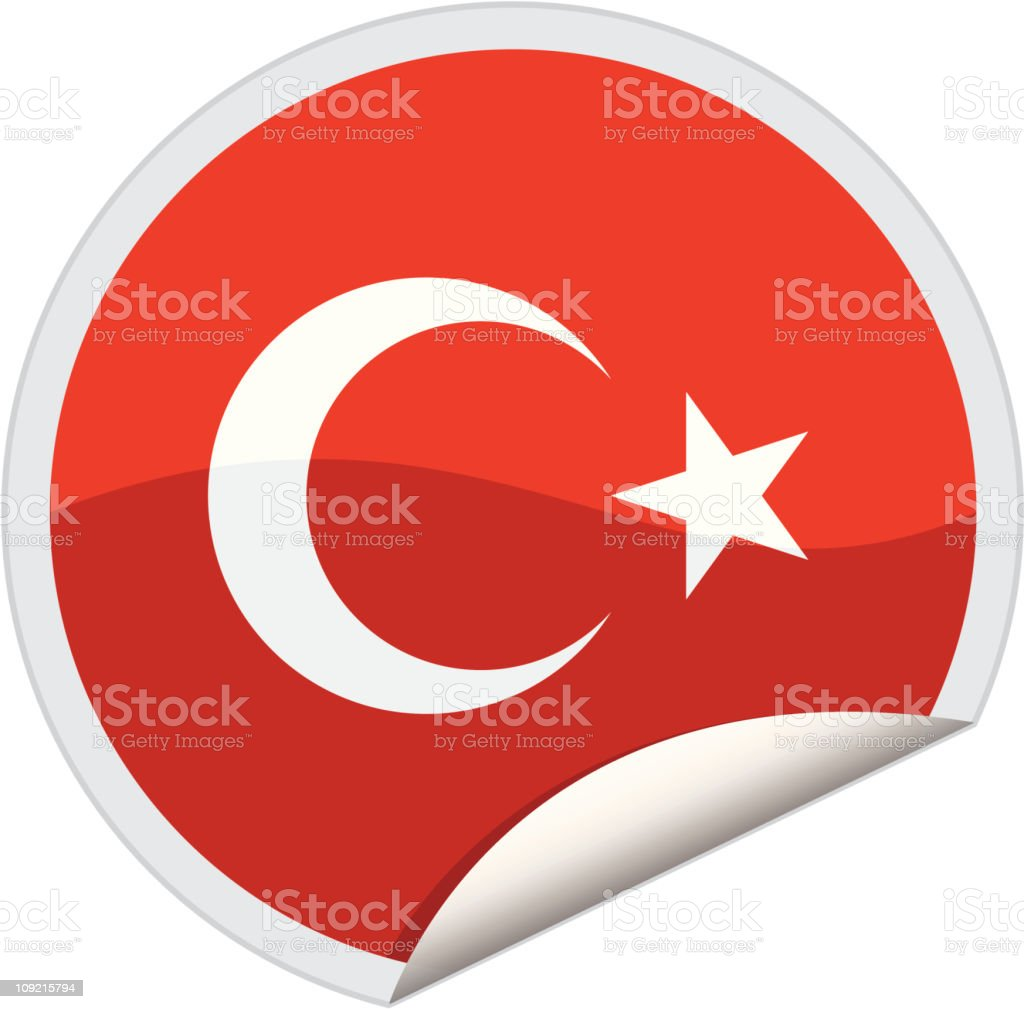 turkey flag royalty-free stock vector art