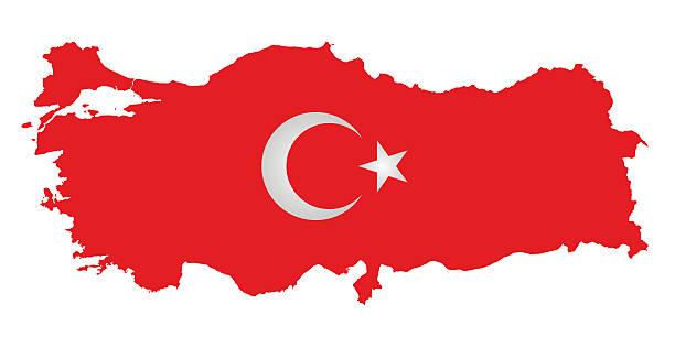 flaga turcji - turcja stock illustrations