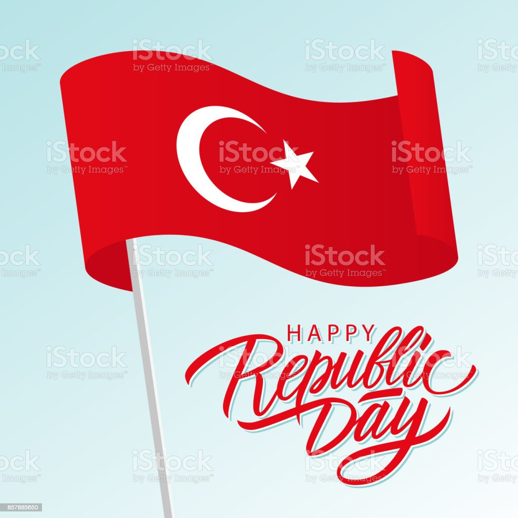 Turkey happy republic day october 29 greeting card with waving turkey happy republic day october 29 greeting card with waving turkish national flag and hand m4hsunfo