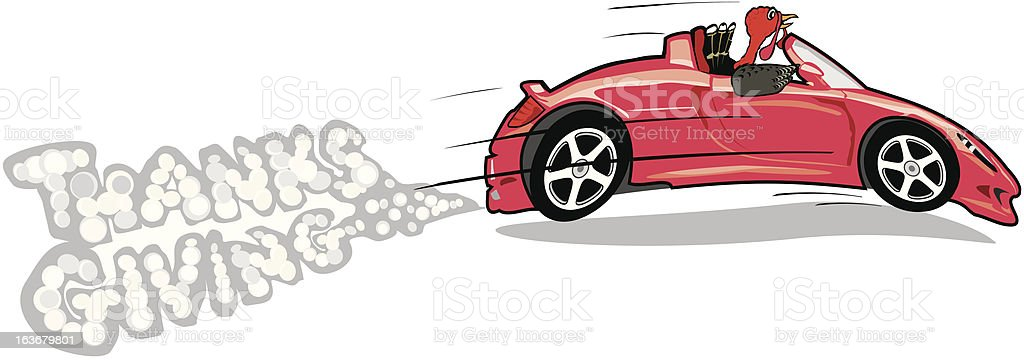 turkey in a convertible royalty-free stock vector art