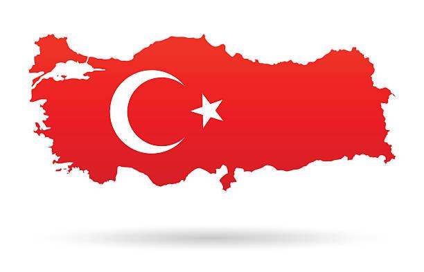 stockillustraties, clipart, cartoons en iconen met turkey map flag - turkse cultuur