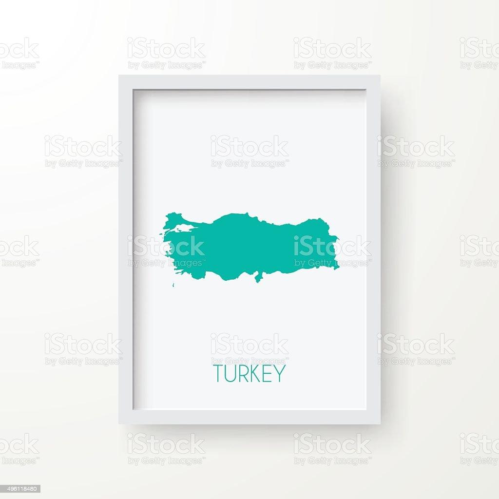 Karte Von Der Türkei Mit Rahmen Auf Weißem Hintergrund Vektor ...