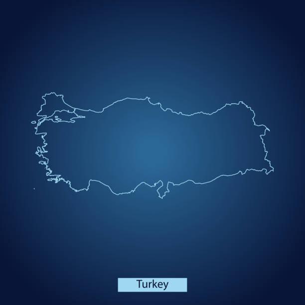 turkey map - turcja stock illustrations