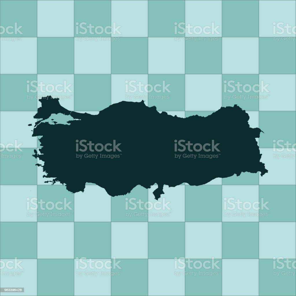Turkiet karta - Royaltyfri Asien vektorgrafik