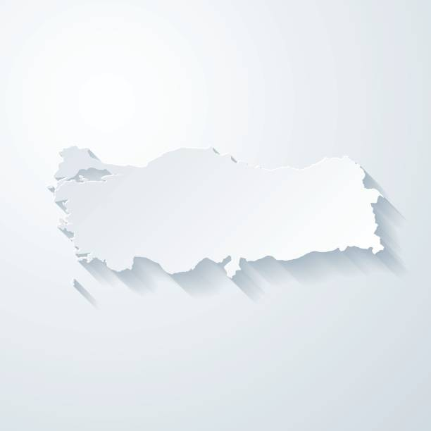 Turkey map with paper cut effect on blank background Map of Turkey with a realistic paper cut effect isolated on white background. Vector Illustration (EPS10, well layered and grouped). Easy to edit, manipulate, resize or colorize. Please do not hesitate to contact me if you have any questions, or need to customise the illustration. http://www.istockphoto.com/bgblue/ turkish stock illustrations