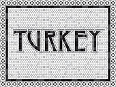 An old art-deco inspired word done in an aged mosaic tile style. File is in grayscale and built as CMYK for optimal printing (using only blacks and tints of black).
