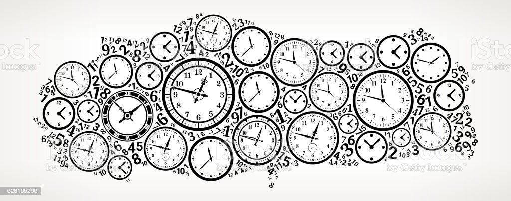 Turkey On Time And Clock Vector Icon Pattern Stock Vektor Art und ...