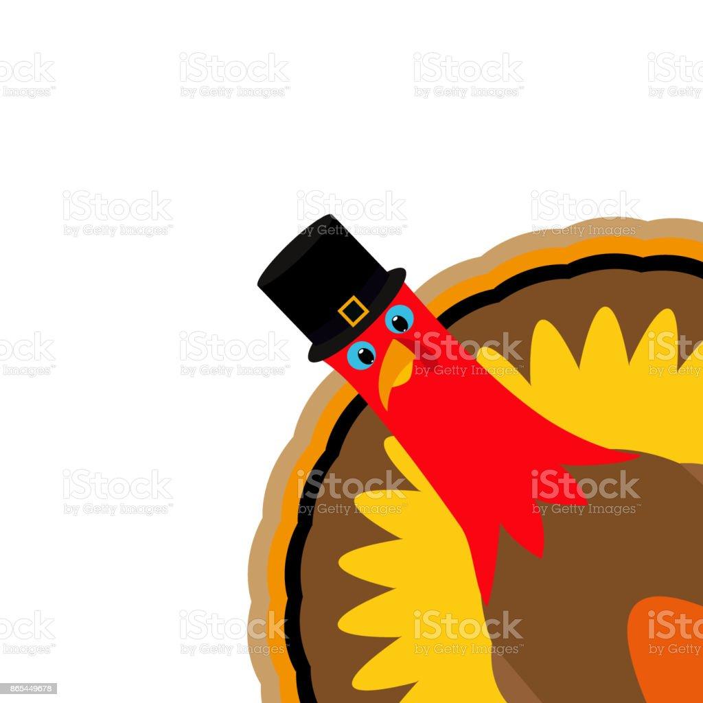 Turkey Pilgrimin on Thanksgiving Day vector art illustration