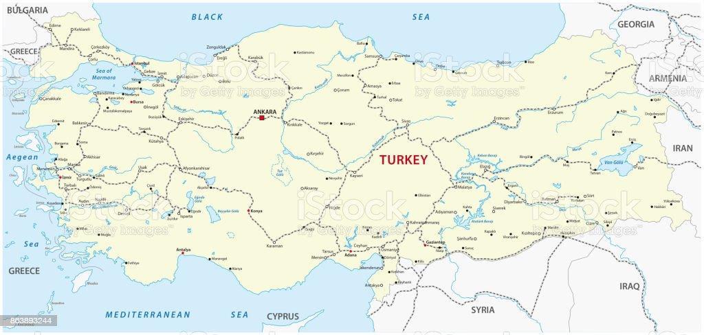Karta Europa Turkiet.Turkiet Jarnvag Karta Vektorgrafik Och Fler Bilder Pa Ankara Istock