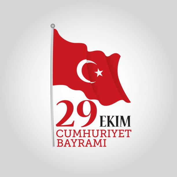 stockillustraties, clipart, cartoons en iconen met turkey republic day - turkse cultuur