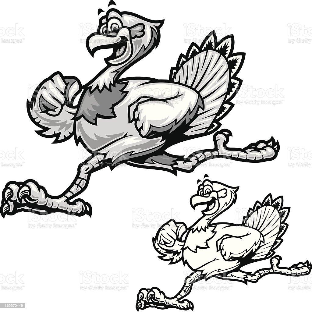 Turkey Run B&W vector art illustration
