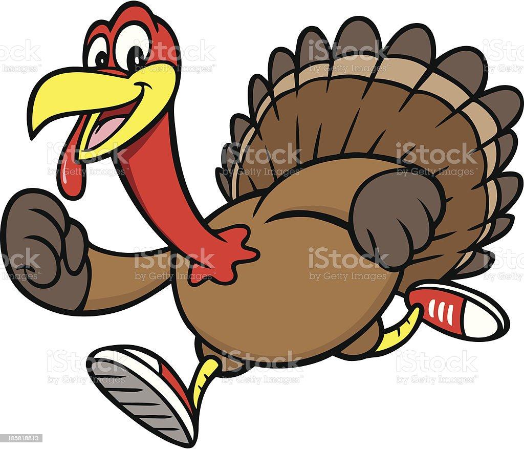 royalty free turkey clip art vector images illustrations istock rh istockphoto com  turkey running away clipart