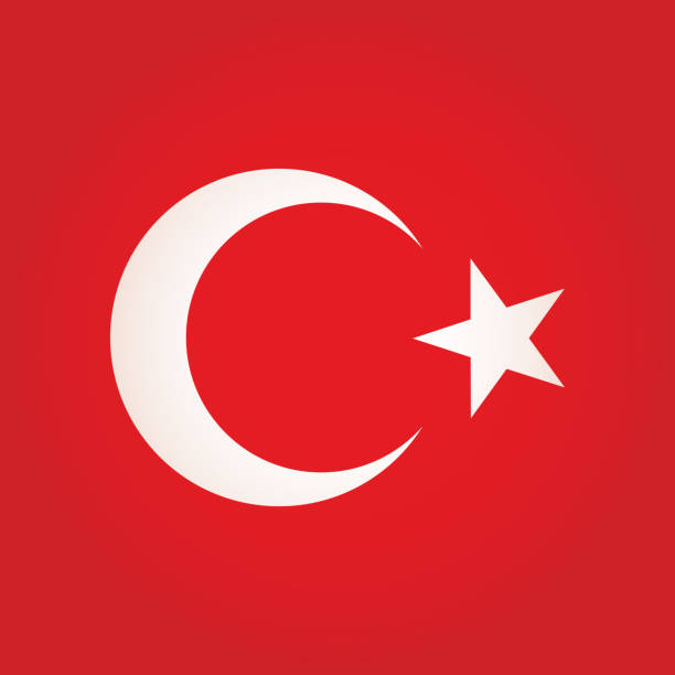 土耳其廣場國旗圖示 - 新月 幅插畫檔、美工圖案、卡通及圖標