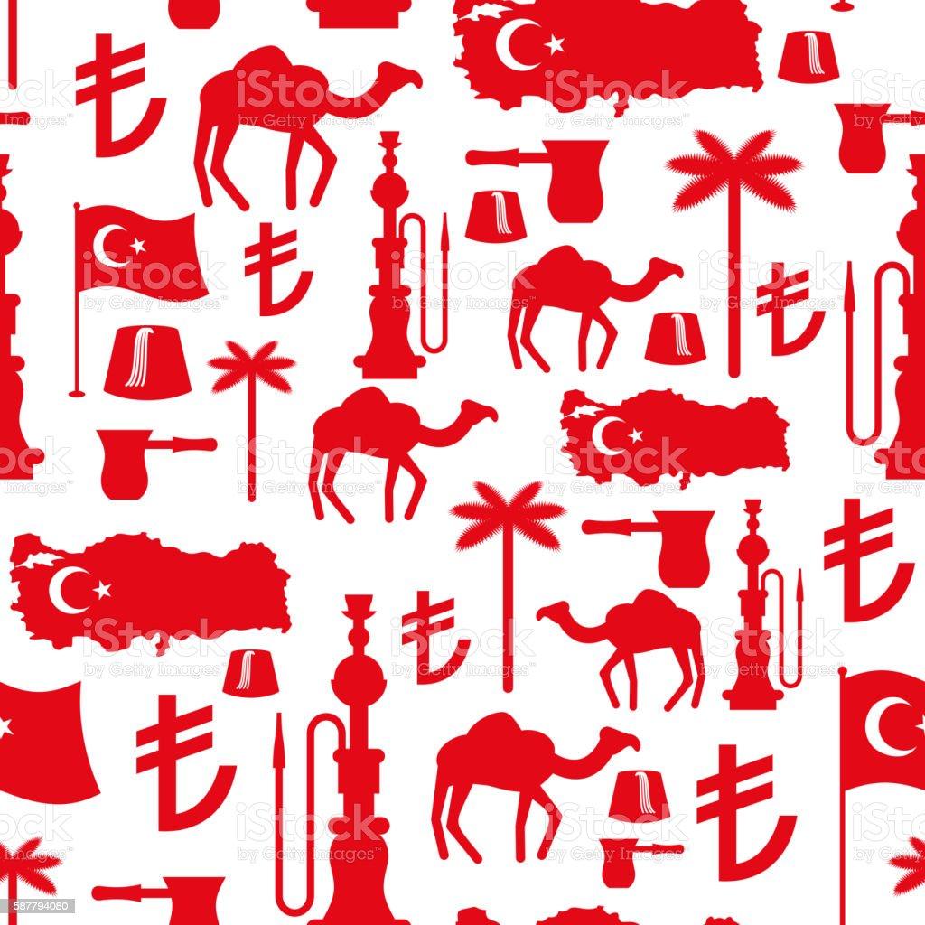 Turkey symbols seamless pattern turkish national ornament stat smoke physical structure smoking activity arabia turkey middle east african ethnicity biocorpaavc