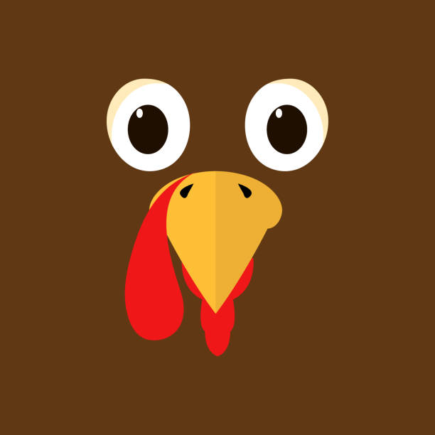 turkey thanksgiving character funny humor colorful animals - thanksgiving turkey stock illustrations