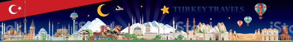 Turquía de viajes - ilustración de arte vectorial