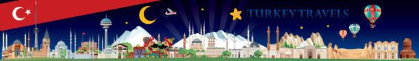 die türkei reisen - alanya stock-grafiken, -clipart, -cartoons und -symbole