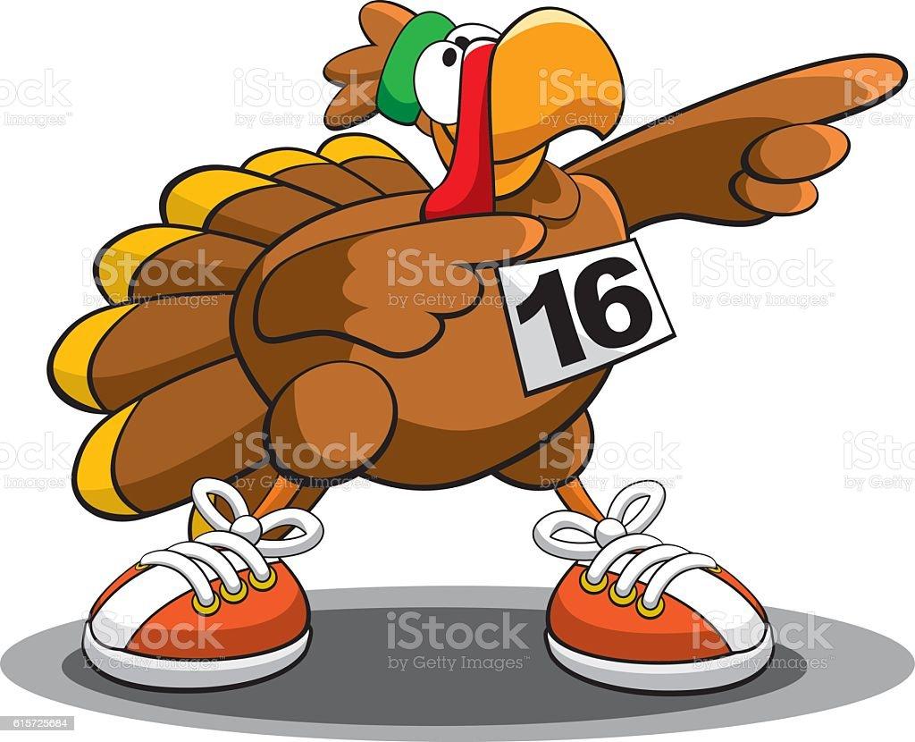 Turkey Trot 16 vector art illustration