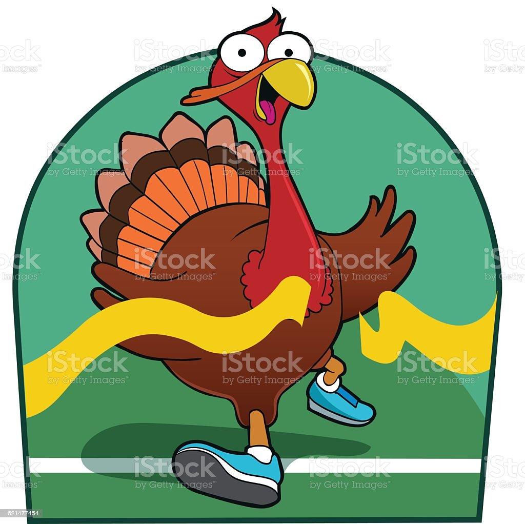 Turkey Trot vector art illustration