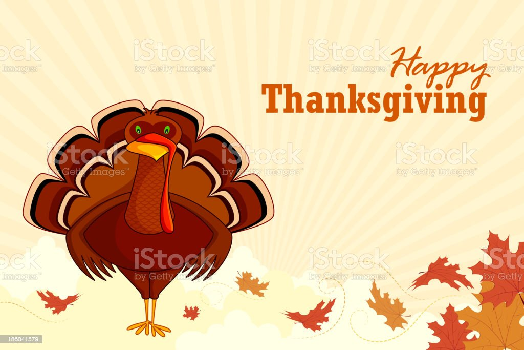 Turkey wishing Happy Thanksgiving royalty-free turkey wishing happy thanksgiving stock vector art & more images of animal