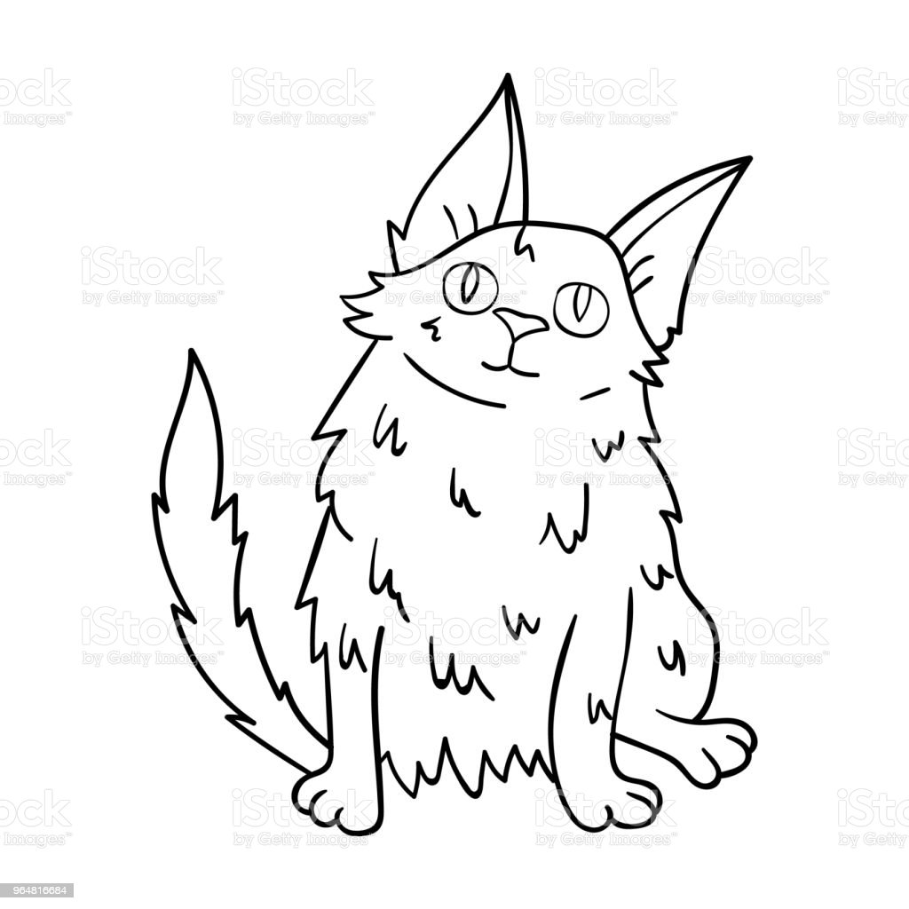 Turkish Angora icon in outline style isolated on white background. Cat breeds symbol stock vector web illustration. royalty-free turkish angora icon in outline style isolated on white background cat breeds symbol stock vector web illustration stock vector art & more images of animal