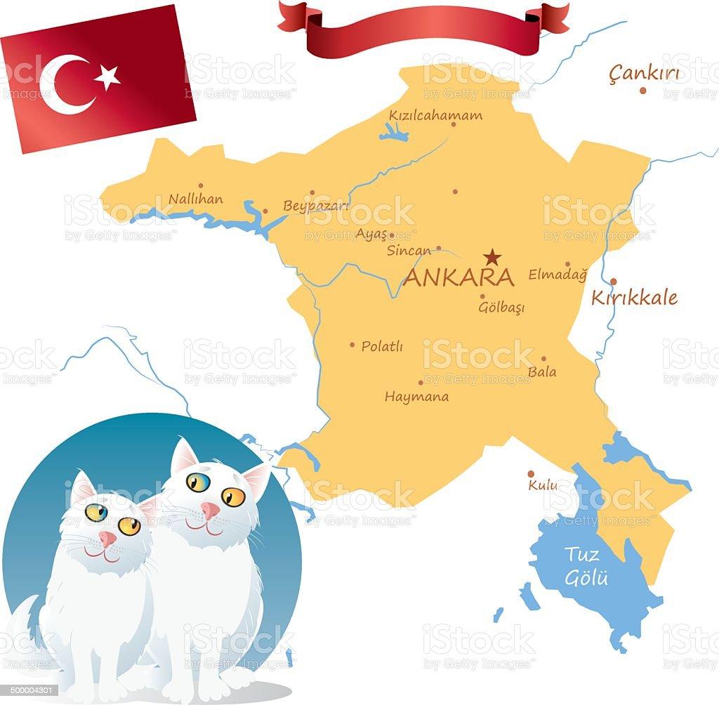 Turkish Angora royalty-free stock vector art