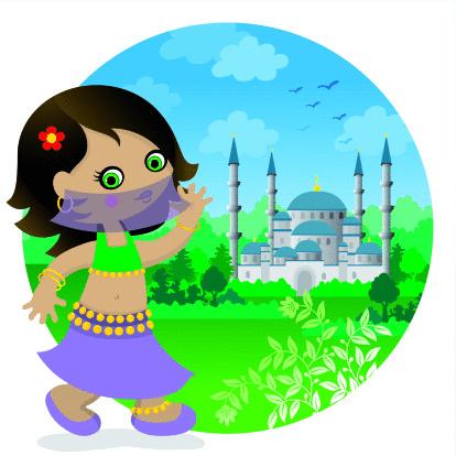 Turkish bellydancer girl